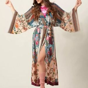Boho Kimono Belted Cardigan